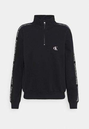 OUTLINE LOGO MOCK NECK ZIP - Sweatshirt - ck black