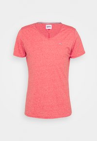 Tommy Jeans - SLIM JASPE V NECK - Basic T-shirt - deep crimson - 4