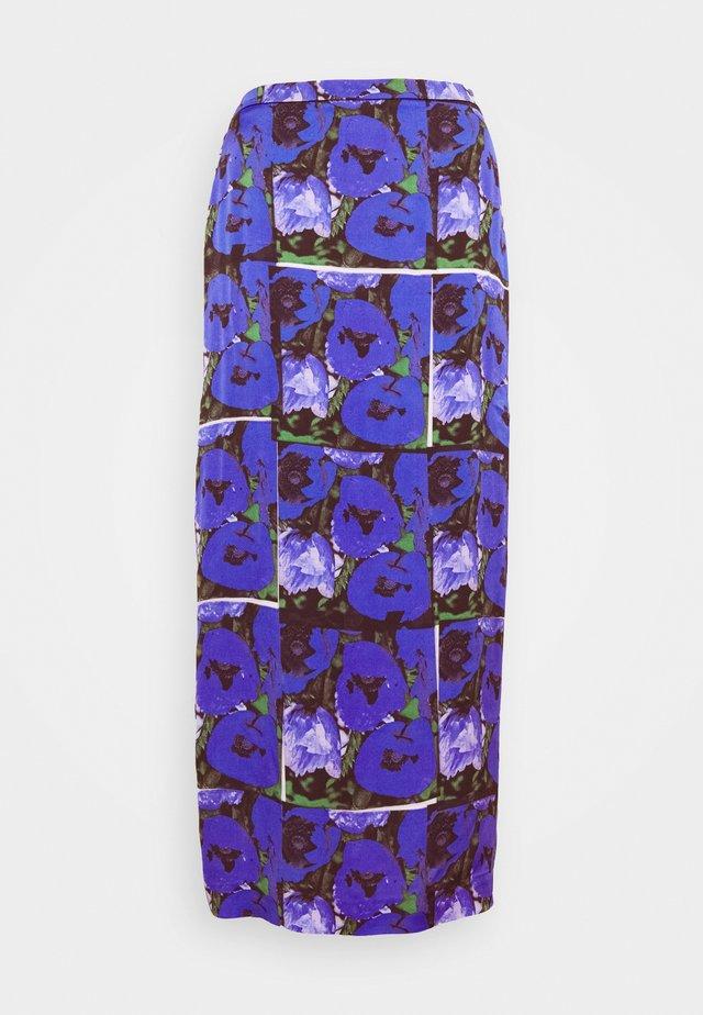 LEONA PRINT - Jupe longue - blue