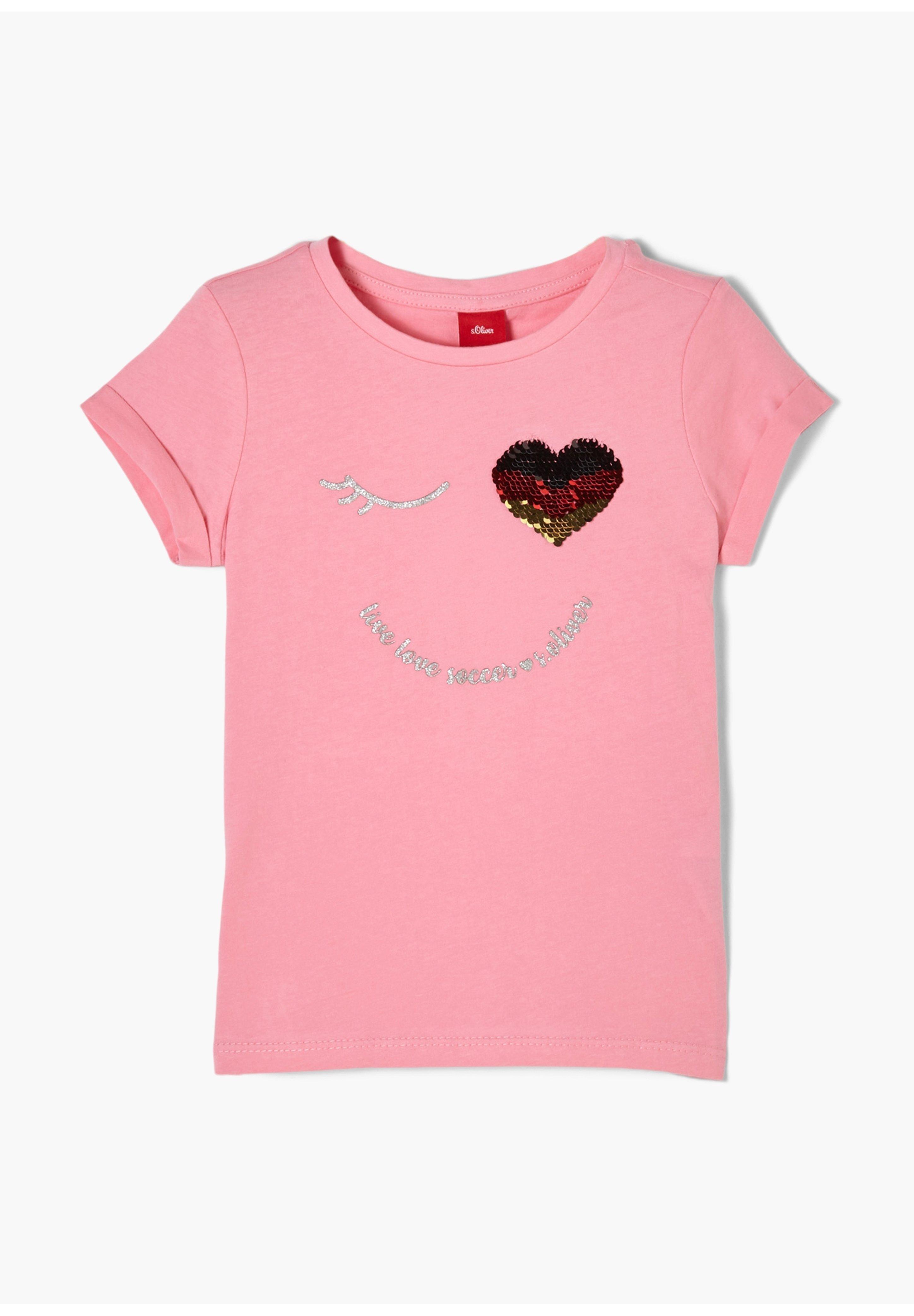 Kinder MIT PAILLETTEN UND GLITZER-DETAIL - T-Shirt print