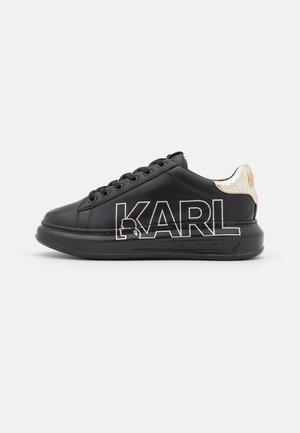 KAPRI OUTLINE LOGO - Baskets basses - black/gold