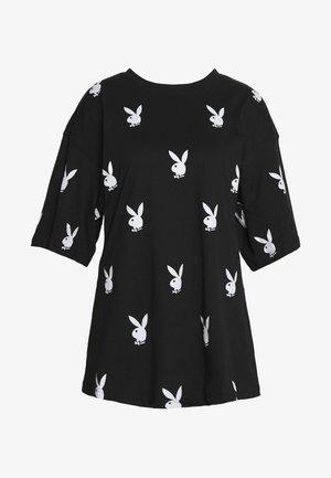 PLAYBOYOVERSIZED T-SHIRT DRESS - Jersey dress - black/white