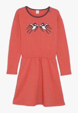 BIRD DRESS - Korte jurk - warm coral