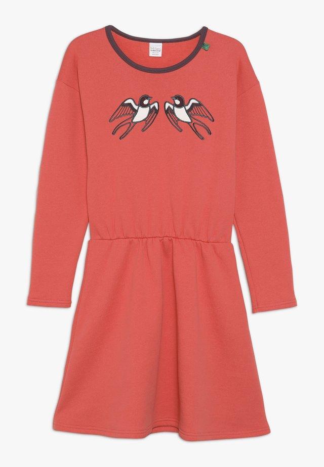 BIRD DRESS - Vapaa-ajan mekko - warm coral