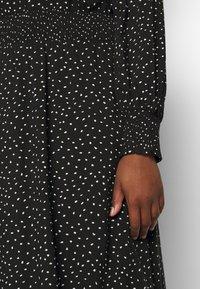 ONLY Carmakoma - CARLOLA CALF DRESS - Day dress - black/white - 5