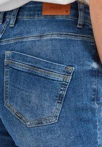 PULZ - Denim shorts - light blue denim - 3
