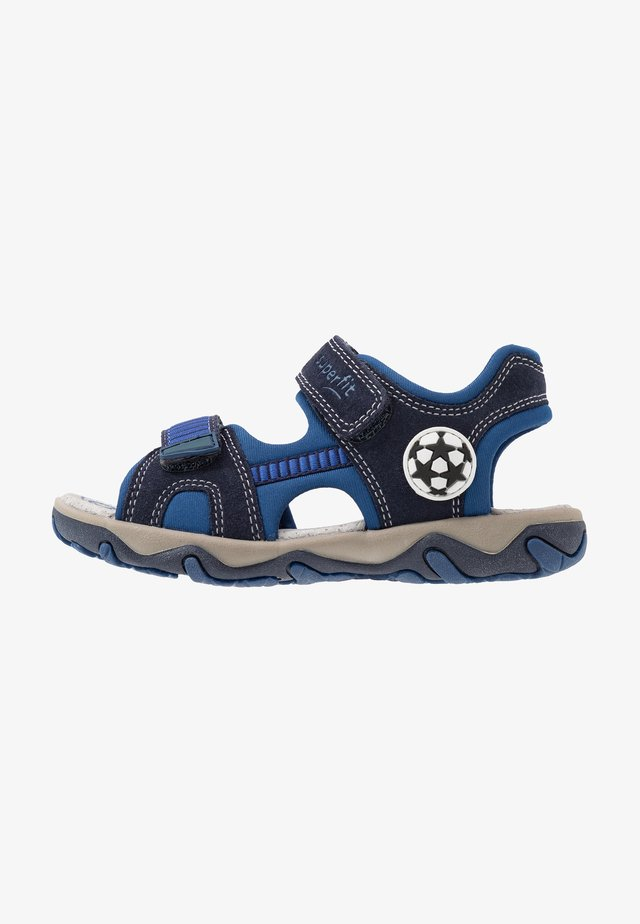MIKE - Outdoorsandalen - blau