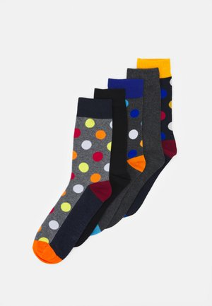 JACHAPPY DOTS SOCKS 5 PACK - Calcetines - dark green melange/navy blazer