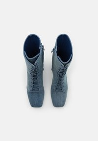 Monki - VEGAN THELMA BOOT - Lace-up ankle boots - blue denim - 5