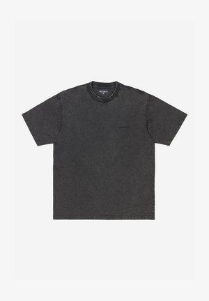 Basic T-shirt - black acid wash