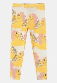 Mini Rodini - UNICORN NOODLES UNISEX - Leggings - Trousers - yellow - 0