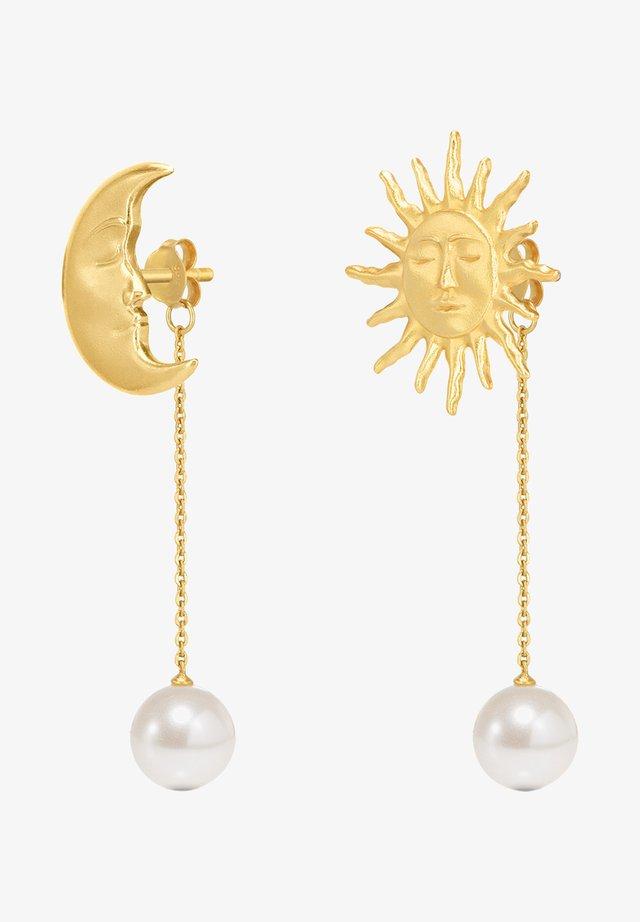 THE LOVERS BACKDROP EARRINGS - Oorbellen - gold