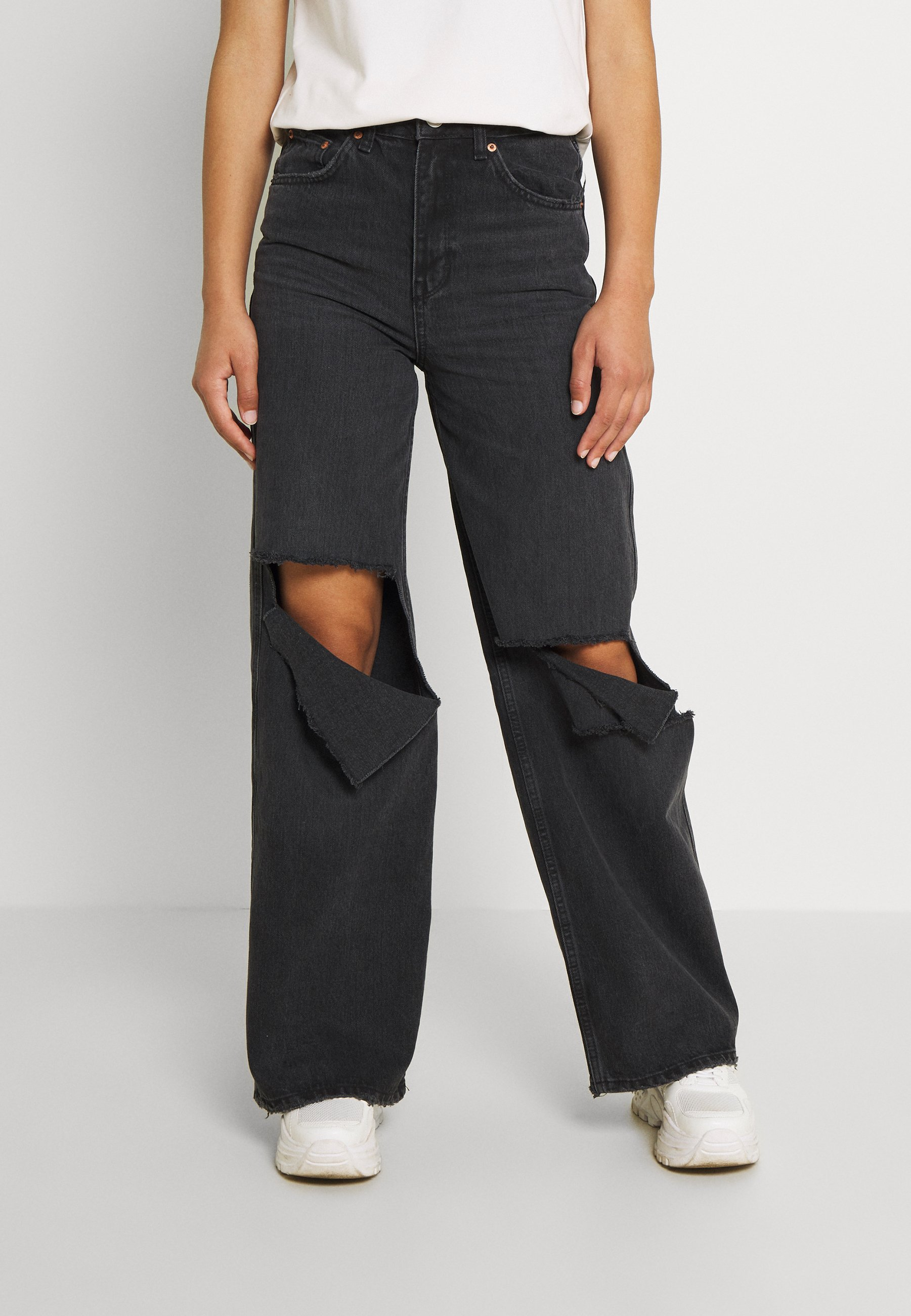 Women RIPPED PUDDLE - Relaxed fit jeans