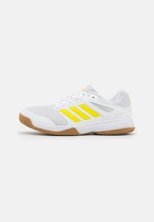 SPEEDCOURT - Boty na házenou - footwear white/acid yellow