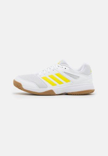 SPEEDCOURT - Handball shoes - footwear white/acid yellow