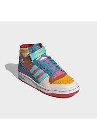 adidas Originals - FORUM MID ORIGINALS SNEAKERS SHOES - Zapatillas altas - pulse aqua/pink tint/sonic fuchsia - 5