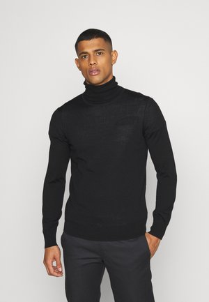 JUMPER - Pullover - black dark