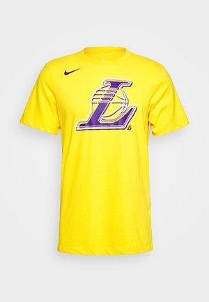 NBA LA LAKERS LOGO TEE - Club wear - amarillo