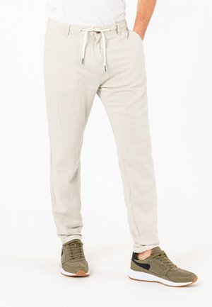 Trousers - light-beige