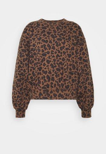 PATTERN CREW - Sweatshirt - brown