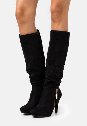 HONEY - High heeled boots - black