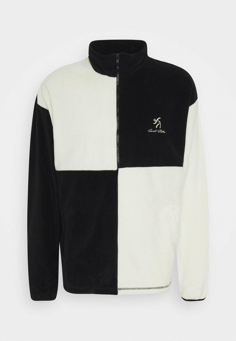 Sweet SKTBS - UNISEX SWEET HALF ZIPPED CITY - Fleece jumper - ecrue/black