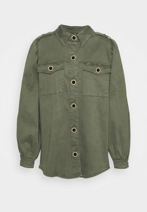 Button-down blouse - dusty olive