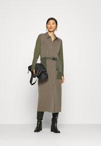 Another-Label - DAWN DRESS - Shirt dress - winter moss melee - 1