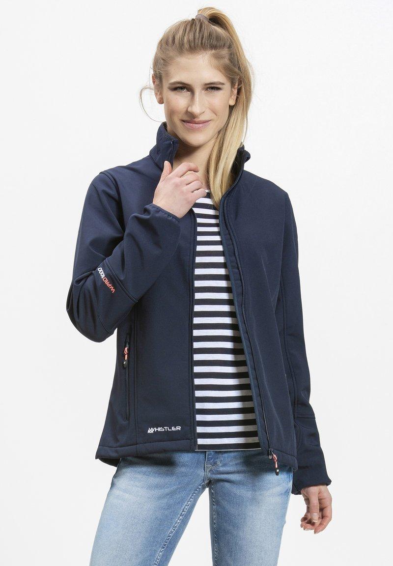Whistler - Covina MIT WASSERDICHTER ZWISCHENMEMBRAN - Soft shell jacket - navy