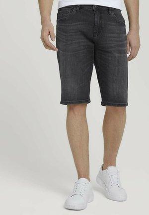 Denim shorts - clean dark stone grey denim