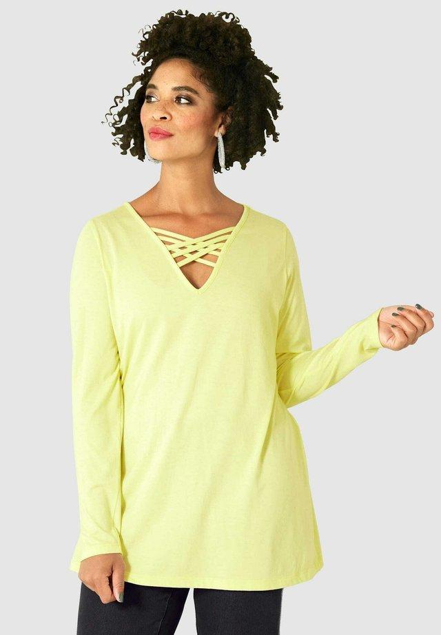 Long sleeved top - neongelb