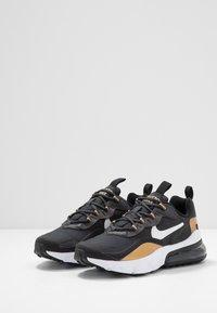 Nike Sportswear - AIR MAX 270 REACT - Sneakers - anthracite/white/black/metallic gold - 3