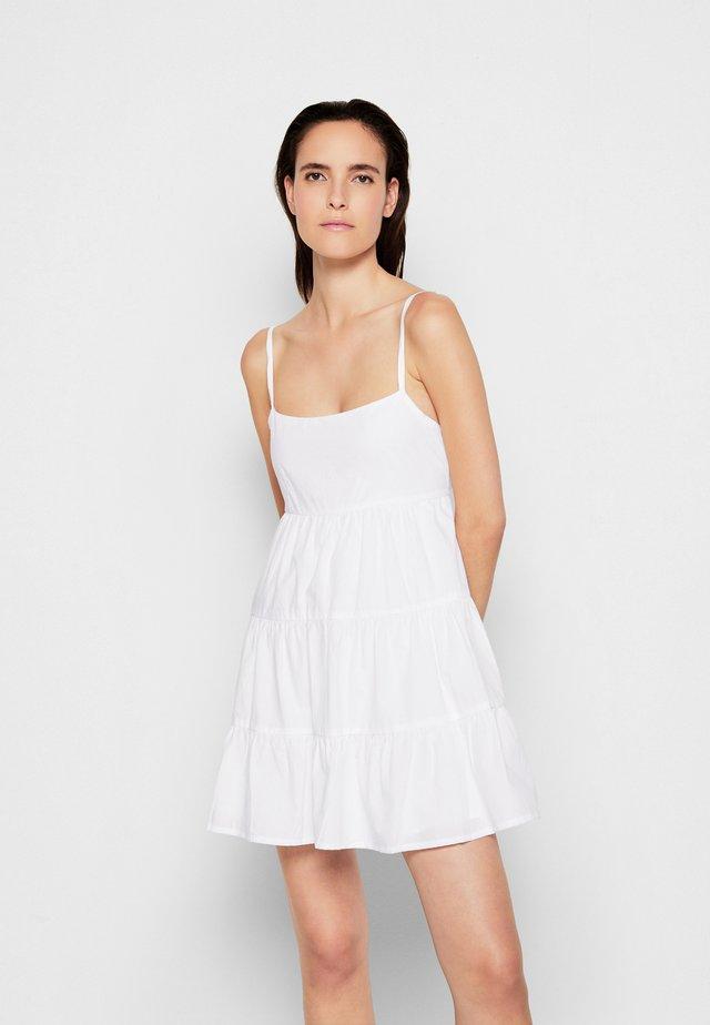 OCTAVIA MINI DRESS - Day dress - plain white