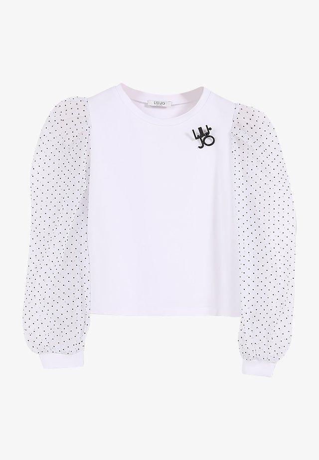 Maglietta a manica lunga - white/pois