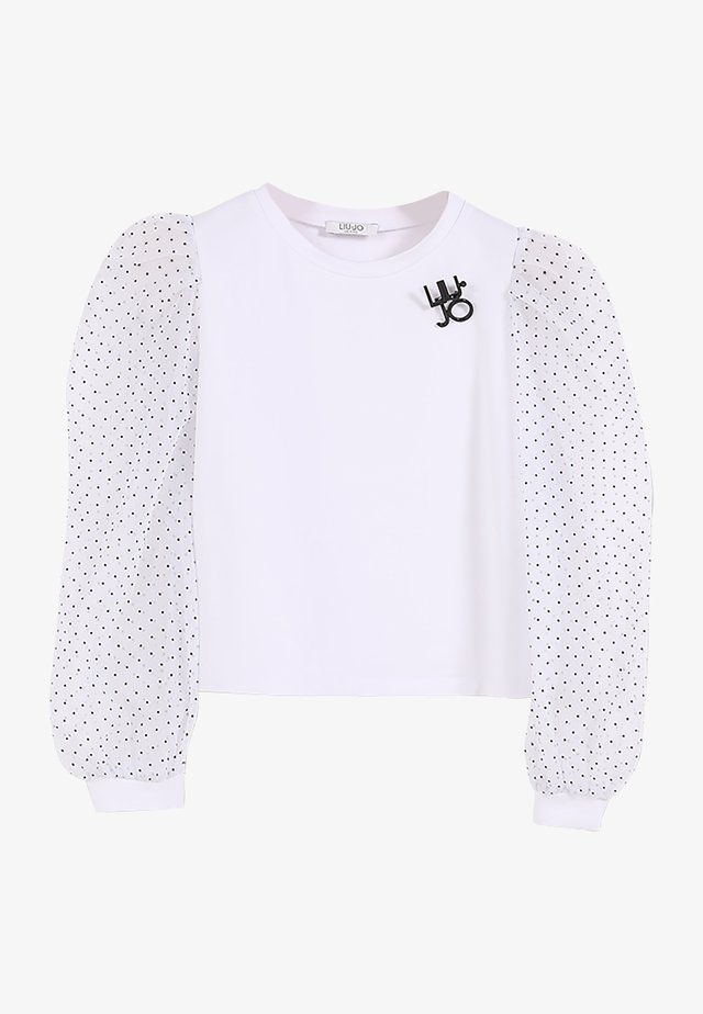 Långärmad tröja - white/pois