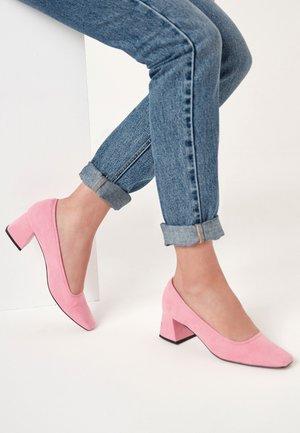 BLOCK COURT - Tacones - pink