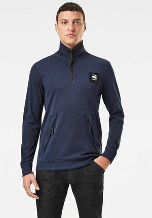 HALF ZIP TRACK TWEETER LONG SLEEVE - Long sleeved top - sartho blue