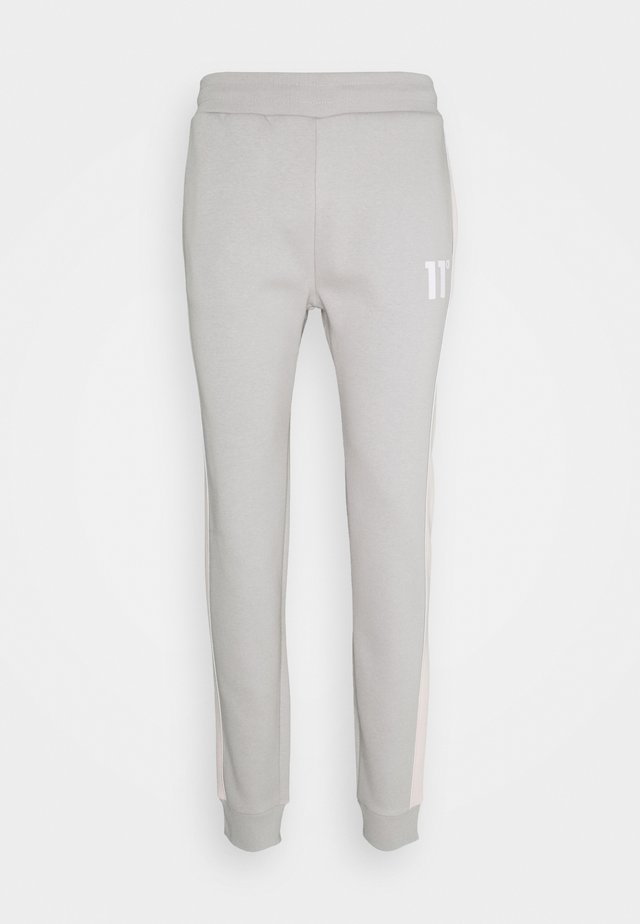 COLOUR BLOCKED PIPED JOGGERS - Tracksuit bottoms - vapour grey / peach blush / white