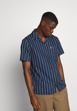 PRINTED STRIPE CAMP SHIRT - Košile - twilight navy