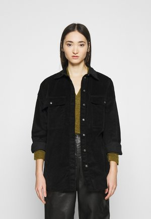 NMFLANNY LONG SHACKET - Summer jacket - black