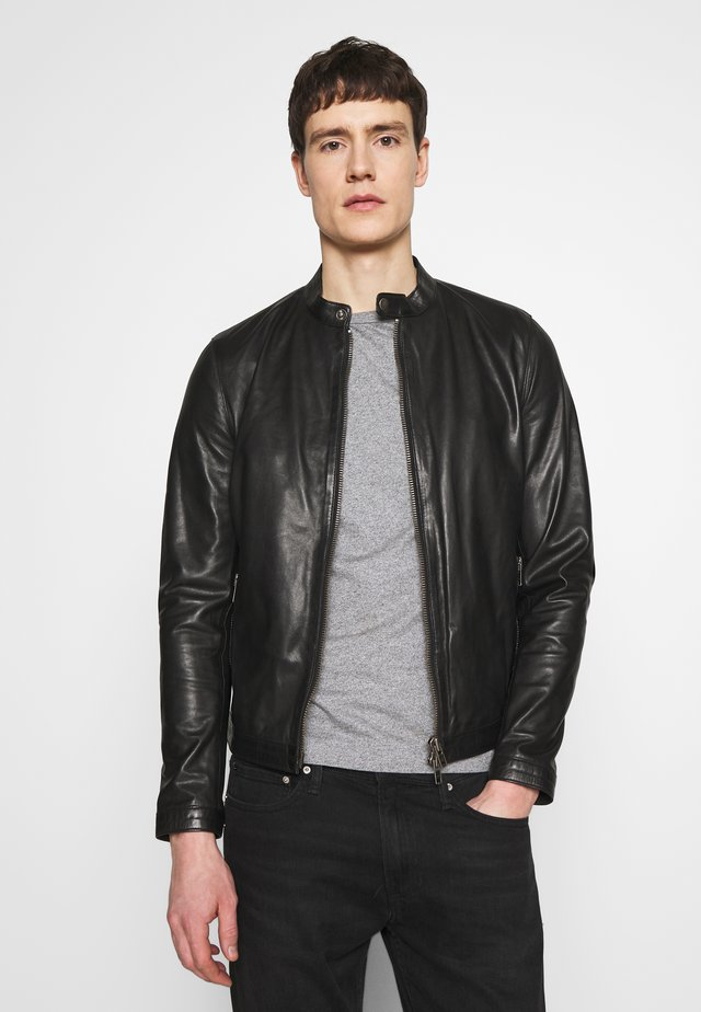 STYLE  - Leather jacket - black