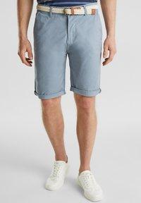 Esprit - MIT GÜRTEL - Shorts - grey blue - 0