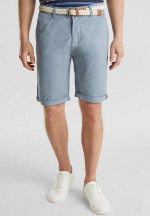 MIT GÜRTEL - Szorty - grey blue