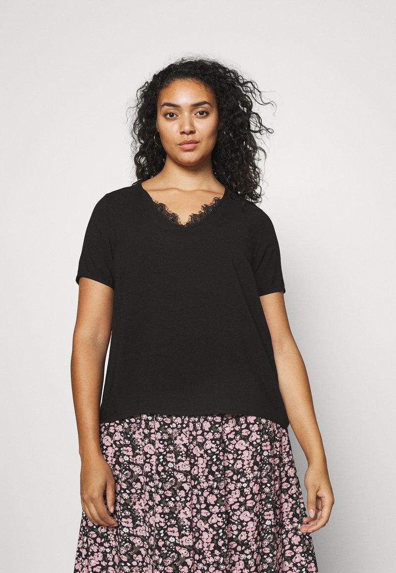 Vero Moda Curve - VMNADS - Basic T-shirt - black