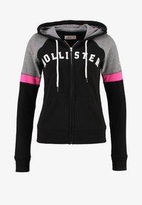 Hollister Co. - CORE - Zip-up hoodie - black - 6