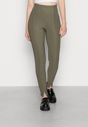 NMSALLIE - Leggings - Trousers - dusty olive