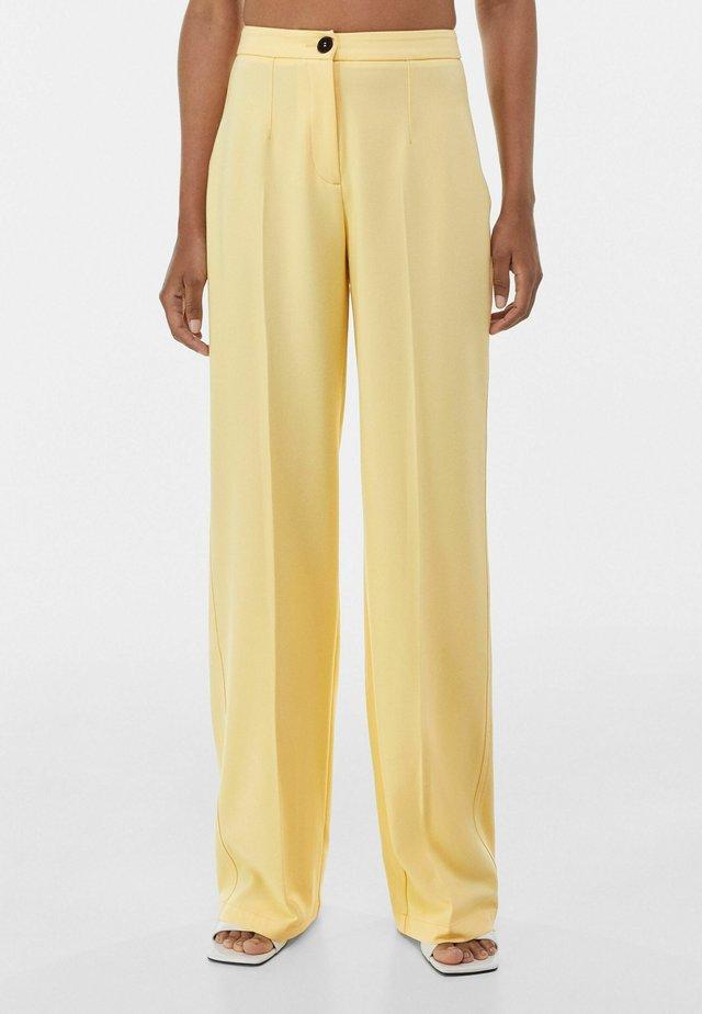 WIDE LEG - Broek - yellow