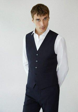 SLIM FIT - Suit waistcoat - bleu marine foncé