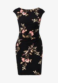 Lauren Ralph Lauren Petite - NOVELLINA CAP SLEEVE DAY DRESS - Fodralklänning - black/pink/multi - 4