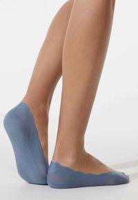 OYSHO - 2 PAIRS FLORAL - Trainer socks - blue - 3